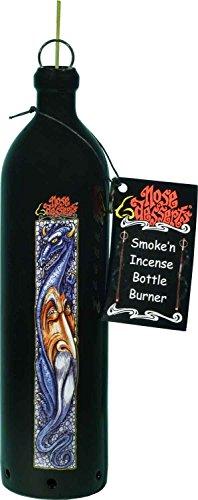 Patchouli Dreams Wizard and Dragon Wonderland Fantasy Home Decor Smoking Bottle Incense Burner - Ashcatcher By Nose Desserts Brand