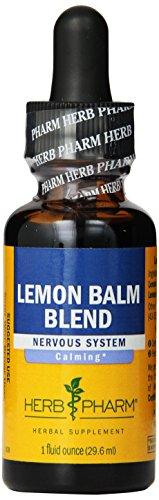 Herb Pharm mélisse Blend Extrait nerveux Supplément système Herbal, une once