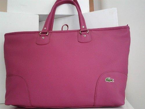 Lacoste Medium Shopping Bag - Cartera de mano para mujer rosa rosa: Amazon.es: Zapatos y complementos