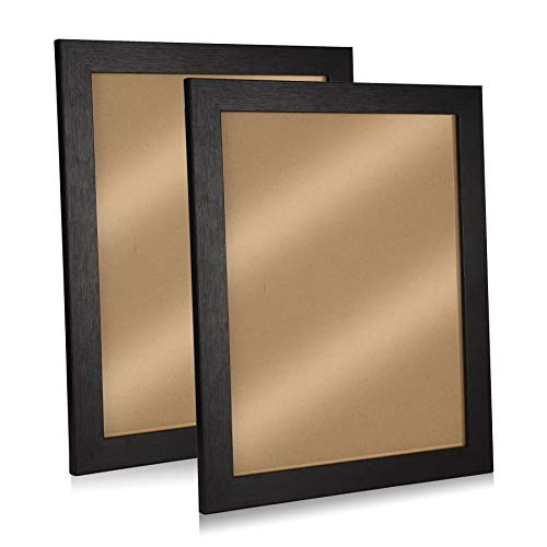 Yi PF G star 2 Pack Black Picture Frames - Photo Frames Made to Display Pictures 11x14 Included Wall Mounting Material for Table Top Display and Wall Mounting