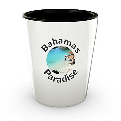 Tropical Beach Bahamas Shot Glass - Paradise - Cute Gift - Perfect Gift For Birthday, Christmass, Men, Women, Friend, Ideal For