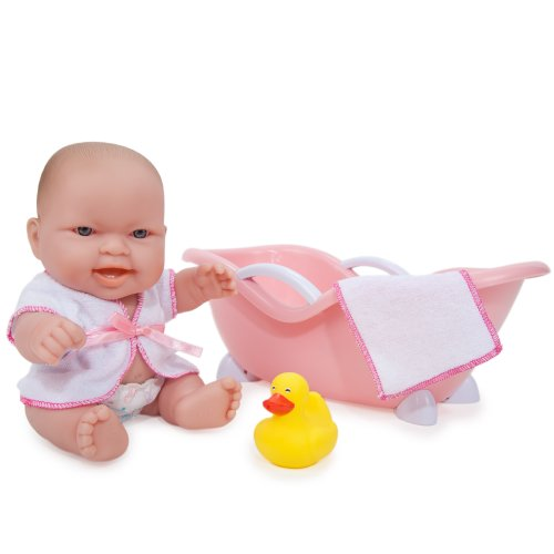 JC Toys Lots to Love Doll with Bathtub  (Expressions May Vary)
