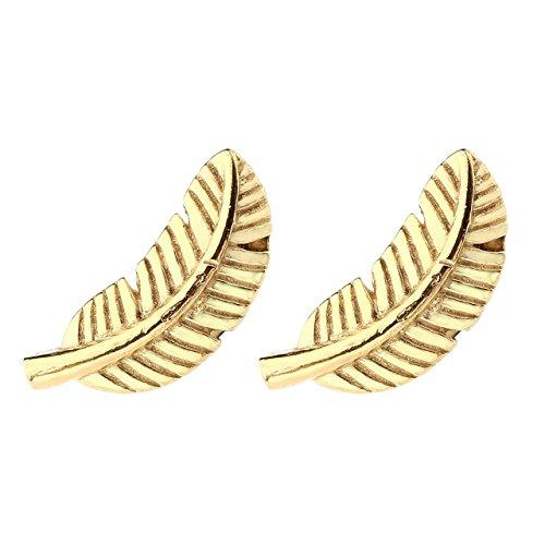 PiercingJ - 4PCS Clou Anneau Boucle d'Oreille Tragus Cartilage Helix Plume Barbell Haltere Rond Acier Inoxydable Bijoux de Corps Femme Homme