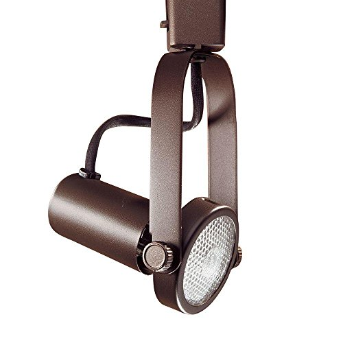 Kendal Lighting TL1603-ORB Designers Choice Gimball Ring Cylinder 1-Light 120V PAR20 Track Head, Oil Rubbed Bronze Finish