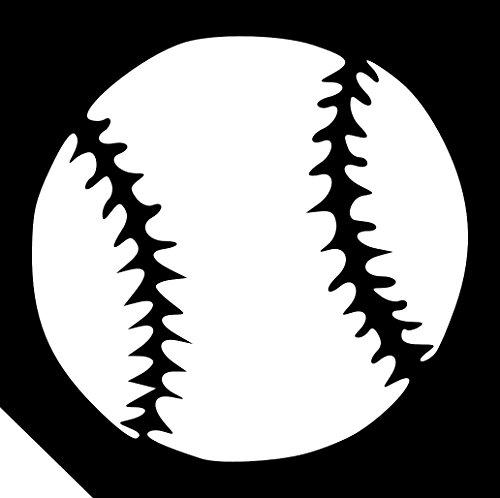 25pc. Glitter Tattoo Stencil - Baseball ~ Single Use/Self Adhesive