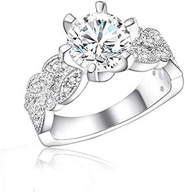 RQZQ Ring Cubic Zircon 925 Anillos de Boda de Plata para Mujeres con Piedras de señora Fashion Jewelry envío de la Gota al por Mayor