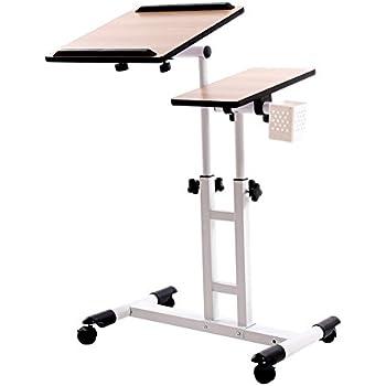 Amazon Com Adjustable Height Stand Cart Laptop Desk