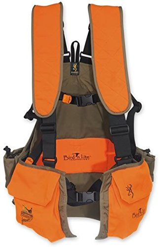 Browning Bird'n Lite Strap Vest, Khaki/Blaze, X-Large - XX-Large