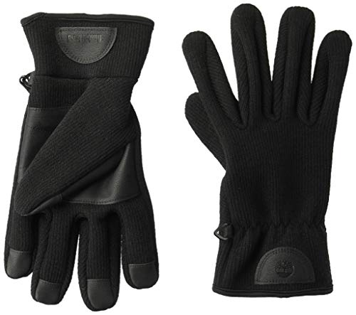 Timberland Men's Ribbed-Knit Glove with Touchscreen Technology, black, Extra Large