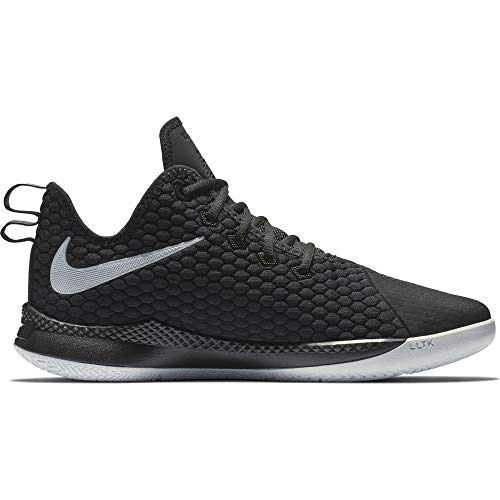 (Nike Men's Lebron Witness III Basketball Shoe Black/White/Cool Grey Size 9 M)