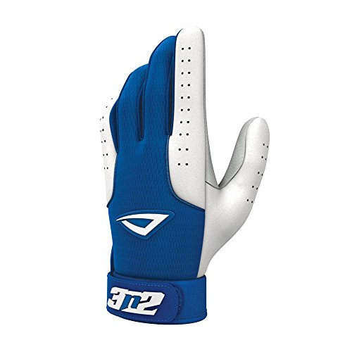 Pro Baseball Gloves - Royal and White (Youth Medium) by 3n2 Sports