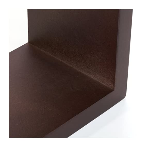 Kiera Grace Cubbi Contemporary Floating Wall Shelves, 5 by 5-Inch, 7 by 7-Inch, 9 by 9-Inch, Espresso, Set of 3 - 3-piece wall-mounted shelf set offers a clean, contemporary display style MDF construction in three sizes: small, medium, and large All cubes are 4 inches deep - wall-shelves, living-room-furniture, living-room - 41BBnC9 4dL. SS570  -
