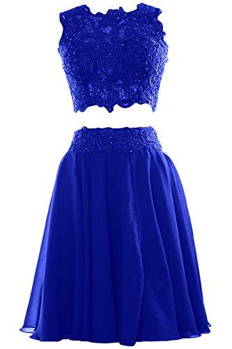 MACloth - Robe - Trapèze - Sans Manche - Femme -  Bleu - 36