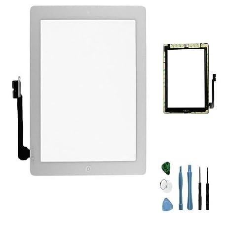 Amazon sellicase white ipad 3 digitizer glass diy do it sellicase white ipad 3 digitizer glass diy do it yourself screen repair kit solutioingenieria Images