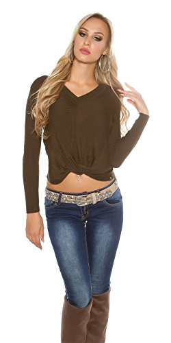 In-Stylefashion - Sudadera - para mujer marrón claro