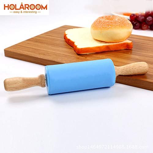 Silicone Rolling Pin Colorful Wood Handle Ferramentas Cake Decorating tools