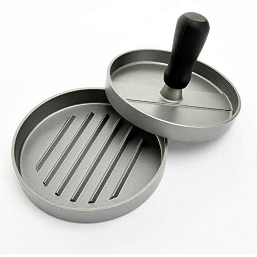 PlenTree Manual Hamger Presses 11.7 9cm Alloy ger Maker RoundShape Plastic Handle PattyMeatSau Grill Cutlets