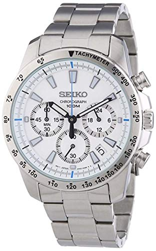 Seiko Dual Time - Seiko Chronograph Overseas Model SSB025PC Men's Watch Japan import