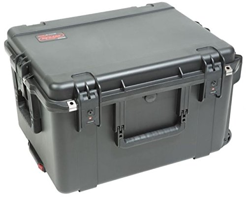 SKB 3i-2217-124U -  iSeries Fly Rack Case with Removable 4U Rack Cage, TSA Locking Latches, Wheels by SKB