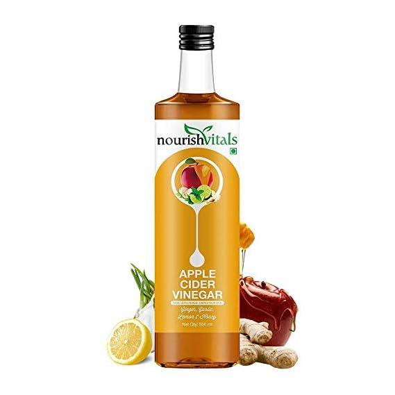 NourishVitals Apple Cider Vinegar with Ginger, Garlic, Lemon and Honey - 500 ml