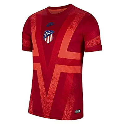 Nike 2019-2020 Atletico Madrid CL Pre-Match Dry Training Football Soccer T-Shirt Jersey (Red)