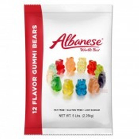 Albanese Confectionery 50200-CASE 12 Flavor Wild Fruit Bears - 20 lb Case