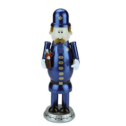 "Northlight 12"" Decorative Blue, Gold and Black Wooden ""Pepsi"" Pete Christmas Nutcracker"