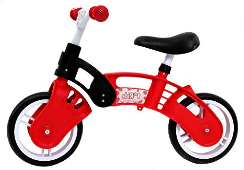 1st Ride Red Toddler Training No Pedal Balance Bike – 18 months to 3 years