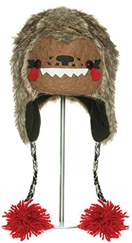 Bobby the Big Foot Pilot Hat - - BROWN