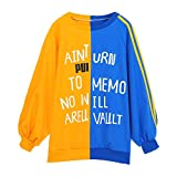 Sannysis Womens Autumn Loose Long Sleeve Letter Print Sweatshirt Pullover Tops, Yellow L