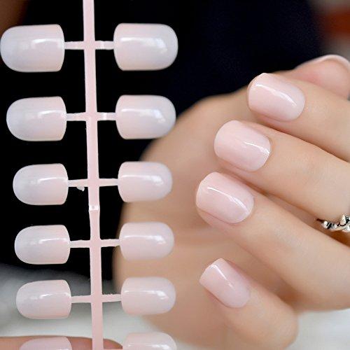Coolnail Fashion Aquoval Short Nude Pink Nail Tips False