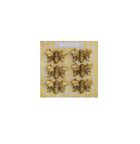 Creative Co-Op DA5141 Bee Magnet, Set (6), Gold (Metal Bees)