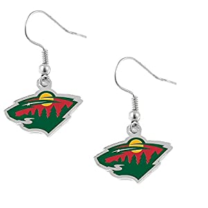 Minnesota Wild Team Logo Dangle Earrings