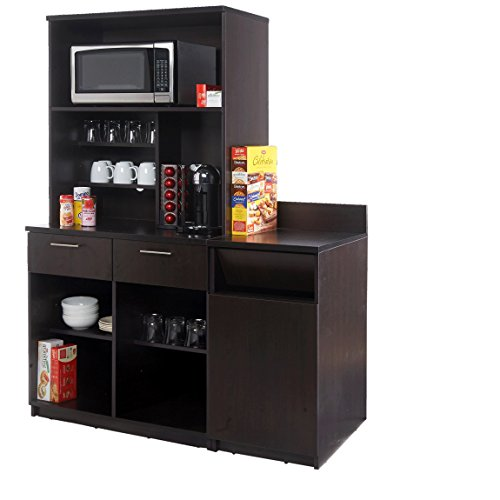 Coffee Kitchen Lunch Break Room Cabinets Model 4248 BREAKTIME 3 piece group Color Espresso - Factory Assembled (NOT RTA) Furniture Items ONLY.