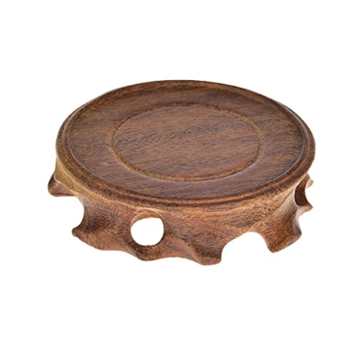 Goldy&Wendy Sandalwood base Rosewood display stand with non-slip mat.