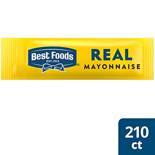 Best Foods Mayonnaise Stick Packets Real 0.38 oz, Pack of 210