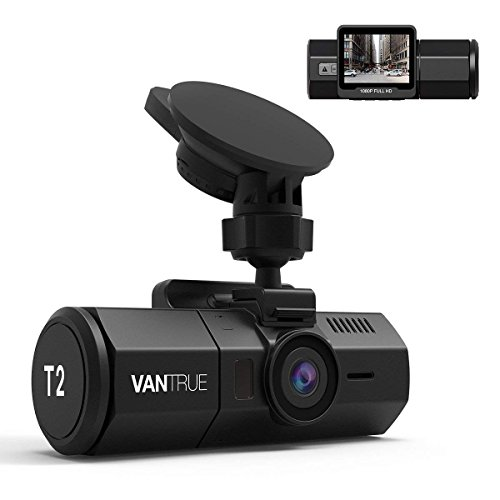 "Vantrue T2 24/7 Surveillance Supercapacitor Dash Cam 1920x1080P Car Camera 2.0"" LCD 160° Dashboard Camera Recorder w/Night Vision, Sony Sensor, Wave Guard Parking Monitor, Support up to 256GB Card"