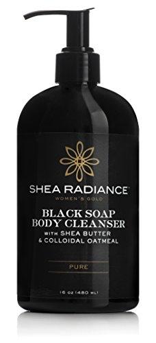 Shea Radiance Pure Scent Black Soap Body Cleanser, 16 (Pure Shea Butter Liquid)