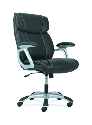 basyx by HON High-Back Leather Executive Office/Computer Chair with Arms - Ergonomic Swivel Chair (HVST311) by HON