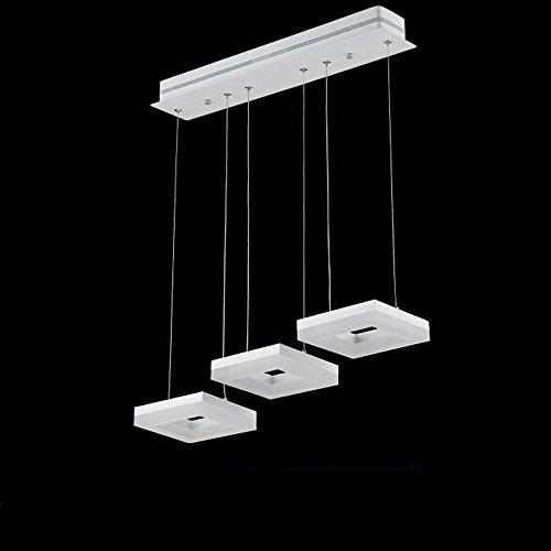 (DIDIDD Chandelier- stylish modern led restaurant three chandelier acrylic creative personality chandelier(3-27w , 6-54w) --interior lighting chandeliers,White light-3-27W)