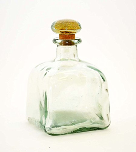 750ML TEQUILA BOTTLE W/ GLASS LID, EMPTY by Laredo Import