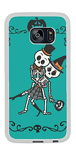 Personalize Samsung Galaxy S7 Edge Cases - Cute Skeleton Halloween Hard Plastic Phone Cell Case for Samsung Galaxy S7 Edge