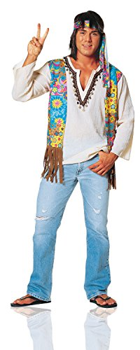 Mens 60s Costumes (Costume Culture Men's 60's Hippie Dude Costume Extra Large, Multi, X-Large)