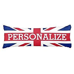 Personalized Union Jack Flag Body Pillow Cover Long Pillow Sham For Bed  Cotton Pillowcase 20 X 54 Inch