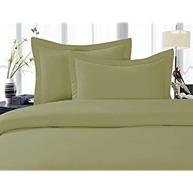 Elegant Comfort 1500 Thread Count Wrinkle,Fade and Stain Resistant 4-Piece Bed Sheet set, Deep Pocket, HypoAllergenic - King Sage/Green