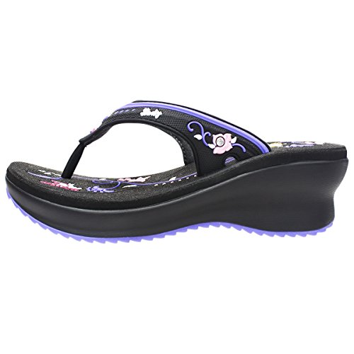 Pump Butterfly Platform Weight GP5830 Shipping Comfort Walking 7536 Light black Purple Flop Women Prime Flip Free BF5Ygz