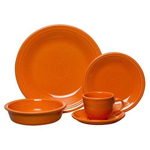 Setting Place 5 Piece Orange - Fiesta 5-Piece Place Setting, Tangerine