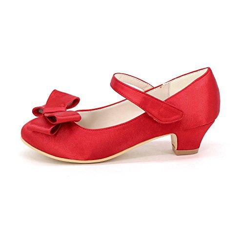 Filles Confort L Flats Talons Closed DéContracté Orteil Pointe YC Robe Hauts red Chaussures Pour q0xFrt0