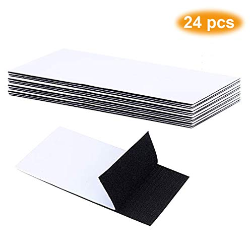 - Pantinue 24 PCS Strong Tape Double Sided Adhesive Sticky Hook Loop Mounting Removable Wall Fastener Sheets (Black, 1.5