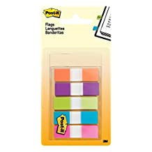 "Post-it Flags, .5"" x 1.7"", Assorted Bright Colours, 1 Dispenser/Pack, 5 Pads/Dispenser,683-5CB"